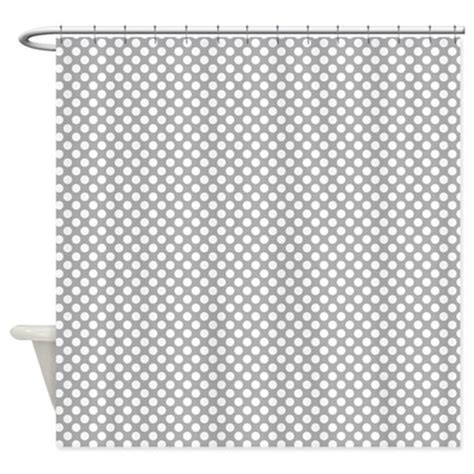gray and white polka dot curtains grey and white polka dots shower curtain by colorfulpatterns