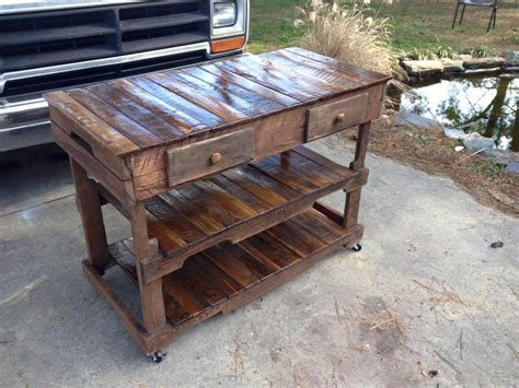 pallet kitchen island pallets made kitchen island