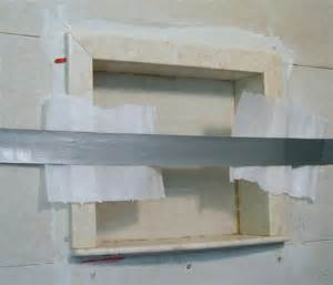 recessed shower niche installation rafi creations