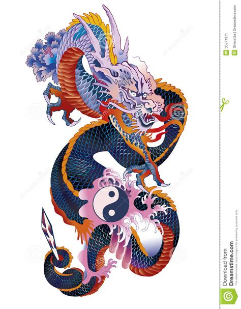 asian dragon stock image image 35871371