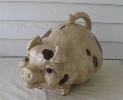 pig piggy bank large large pig piggy coin bank cabin estate k bid