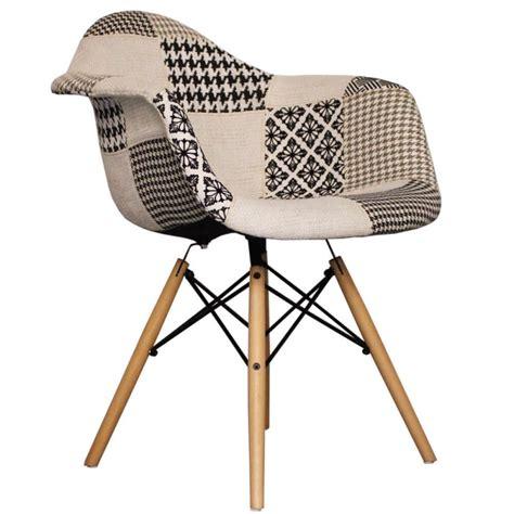 chaise noir et blanc chaise daw patchwork noir et blanc packtoo