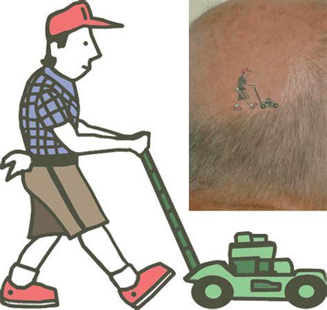 lawnmower tattoo bald lawnmower tattooforaweek temporary tattoos largest