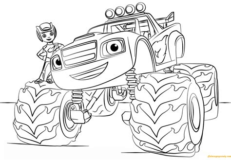 printable for kids com blaze from monster truck coloring page free coloring