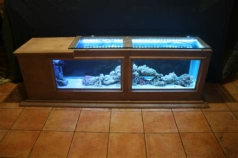 Coffee Tables Fish Tank Custom 58 Gal Salt Water Coffee Table Who Said Fish Tank Cant Be Furniture And Yes I Other