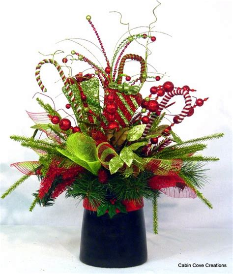 christmas hat floral top hat centerpiece floral arrangement new