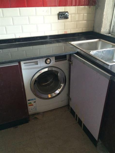 Kitchen Cabinet Washing Machine by Kitchen Cabinets Installation Inception To Completion