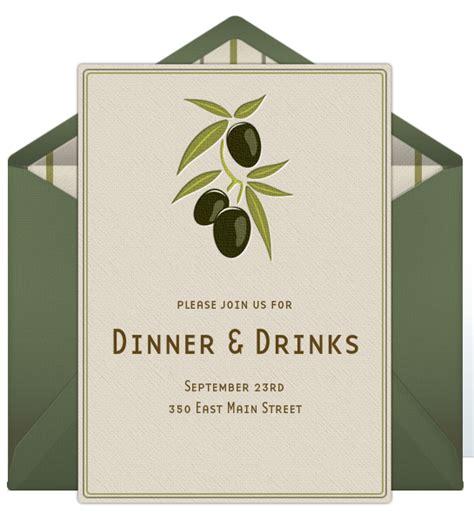 invitations for dinner dinner invitations