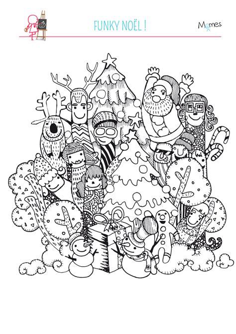 Coloriage De Noel coloriage no 235 l funky momes net