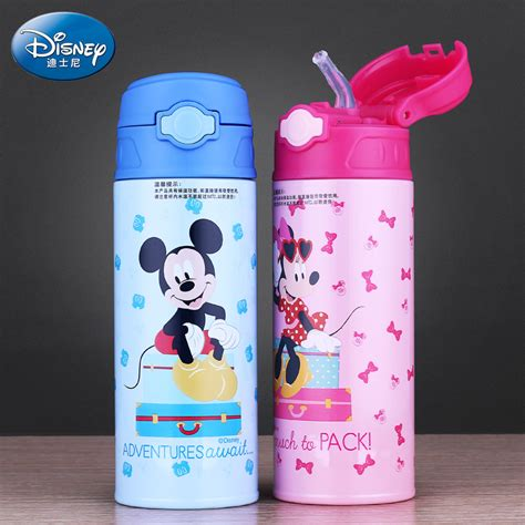 Thermos Disney disney thermos cup mickey mouse baby straw thermo mug insulated stainless steel drink
