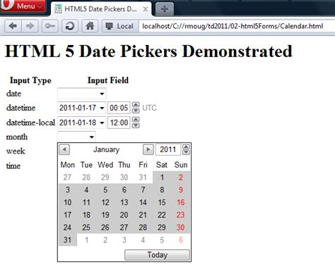 pattern html5 input date inspired by actual events html5 date picker