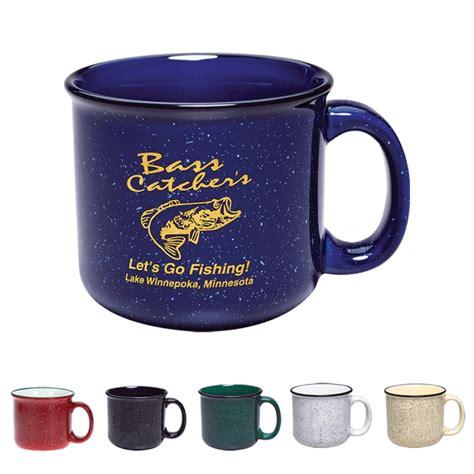 Custom Campfire Mug Personalized in Bulk. Cheap, Promotional. Best in USA, Canada