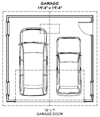 Size Of 2 Car Garage by Dimensions Of A 2 Car Garage Single Car Garage Door Size