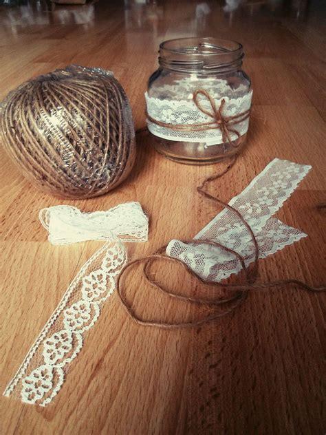 decorar tarros de cristal con puntillas decorar frascos con puntillas y arpillera buscar con