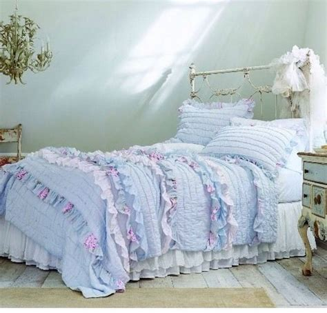 blue shabby chic bedding blue and purple romantic shabby chic floral print full queen size