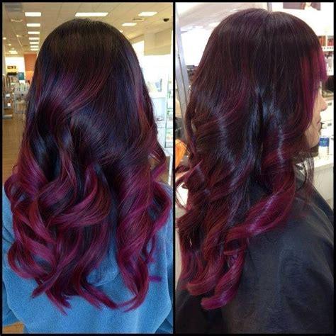 hairstyles burgundy highlights burgundy highlights hair pinterest