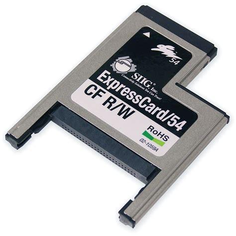 Gift Card Reader Writer - siig expresscard 54 compactflash card reader writer ce 000042 s2