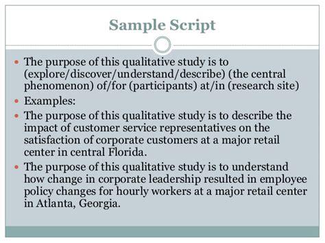a qualitative purpose statement