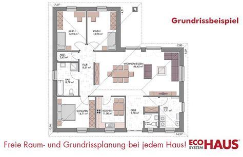 Haus 140 Qm Grundriss by Winkelbungalow 140 Eco System Haus Gmbh Massivhaus De