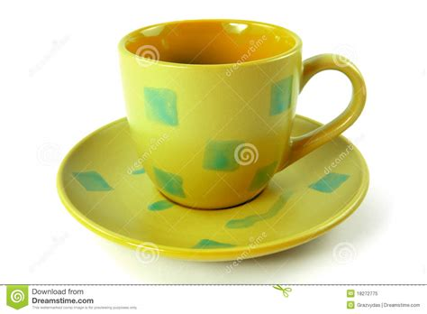 Cup On The Plate cup with plate royalty free stock photo image 18272775