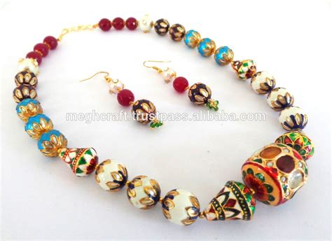 High End Handmade Jewelry - designer beaded necklace indian gold plated jewellery