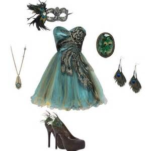 what to wear for halloween with a masquerade mask metallic peacock embroidered holiday party prom dress