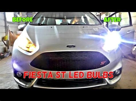 ford fiesta st led headlight bulbs installation & review