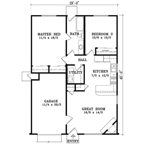 traditional style house plan 2 beds 2 baths 1000 sq ft small house home sweet future home pinterest
