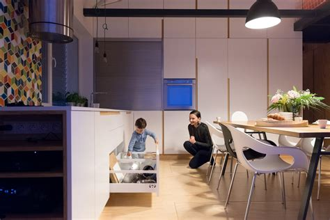 clever kitchen ideas loft design for a family that makes clever use of its space