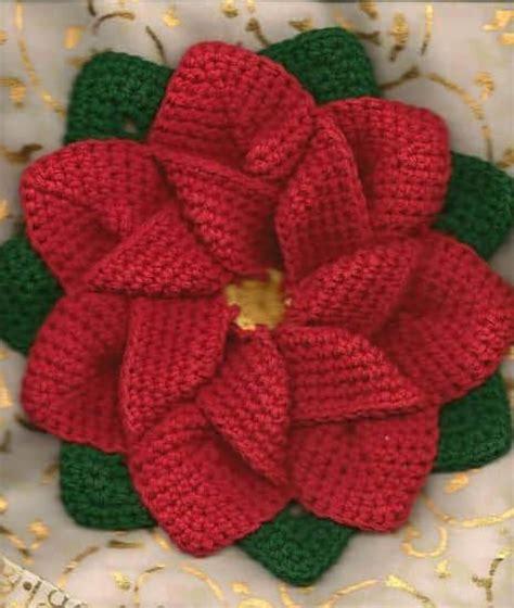 antel de noche buenas a crochet noche buena crochet and flower on pinterest