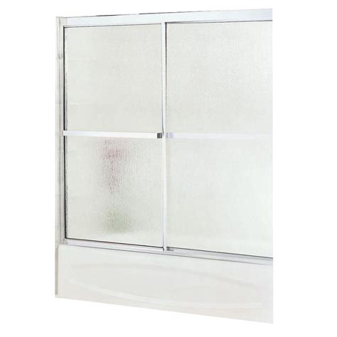 Maax Glass Shower Doors Maax Soul 59 1 2 In X 57 In Sliding Tub Shower Door In Chrome With Glass 105m R59 The