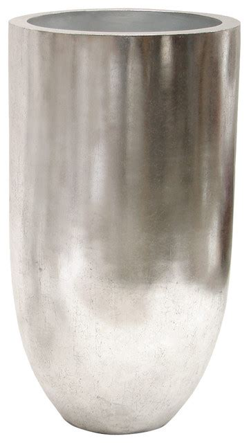 Silver Planters Indoor by Shop Houzz Kathy Kuo Home Leith Modern Classic Silver