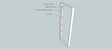 diy door frame diy door frame pull up bar home improvement stack exchange