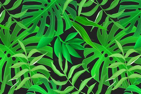 jungle pattern vector tropical pattern jungle palm leaves patterns on