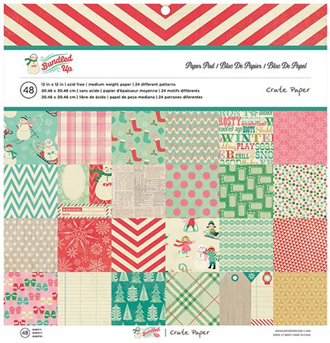 American Crafts Paper - american crafts crate paper bundled up 12 x 12 paper pad