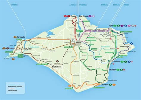 printable road map of isle of wight bungalow arrival departure