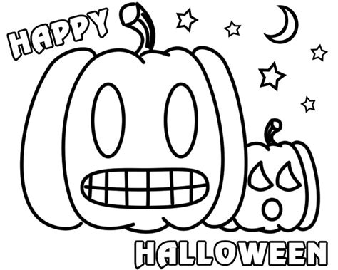happy pumpkin coloring pages 5 best images of printable coloring happy halloween banner