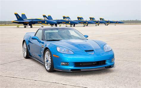 chevrolet corvette zr   navy blue angels fa  hornet chevy corvette zr takes