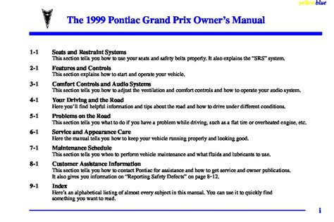 how to download repair manuals 1991 pontiac grand prix instrument cluster 1999 pontiac gran prix gt owners manual just give me the damn manual