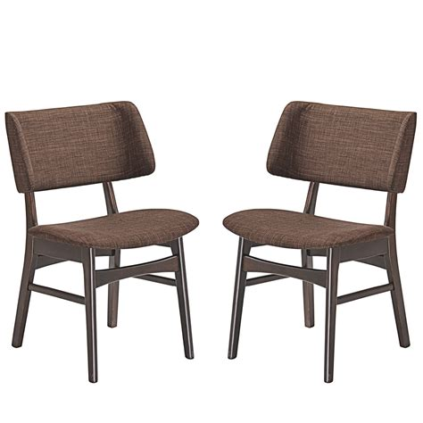 set of 2 vestige vintage dining side chair w linen