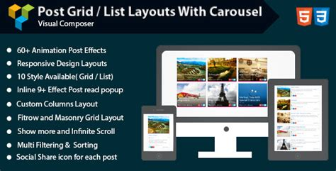 layout post wordpress wpbakery page builder post grid list layout with