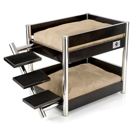 beds for puppies metropolitan bunk bed sleek bed for multi pet households