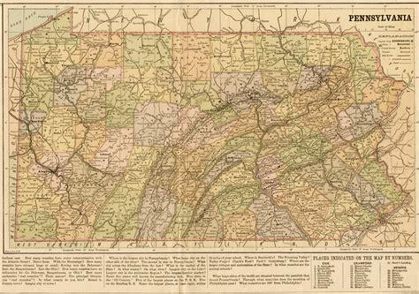 map pennsylvania 1870 s pennsylvania maps