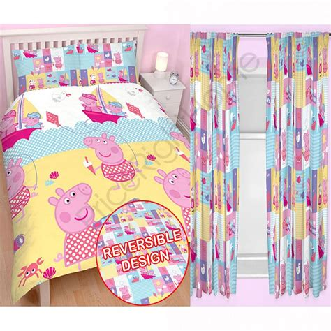 peppa pig tab top curtains peppa pig nautical bedding curtains range in single