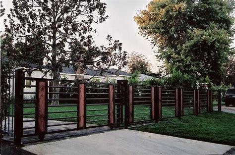 modern iron fence vrxww garden pinterest wood insert