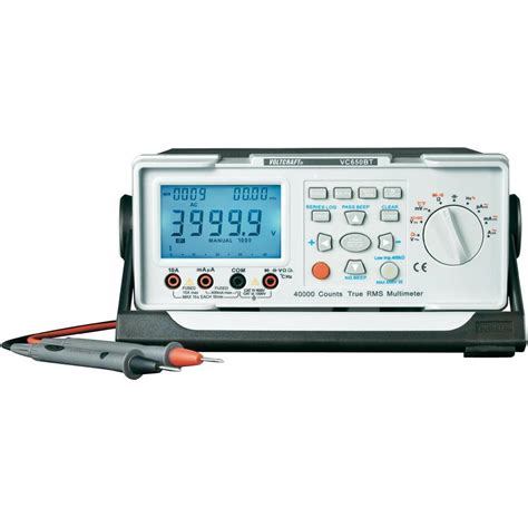 bench digital multimeter bench multimeter digital voltcraft vc650bt calibrated to