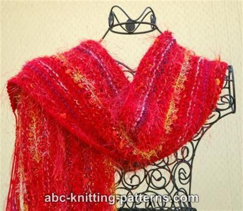 fancy scarf knitting patterns abc knitting patterns easy fancy yarn scarf