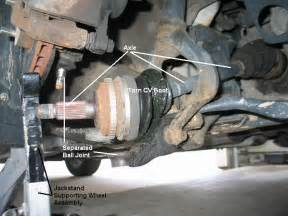 how to replace an axle shaft cv joint half shaft honda