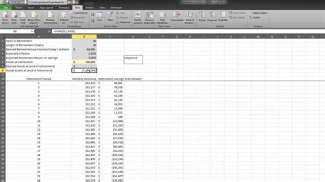 retirement planning spreadsheet spreadsheets