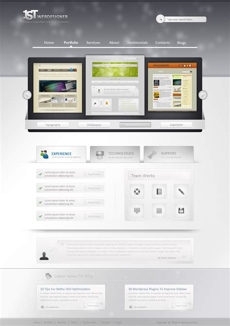 layout design tutorial finished preview web design
